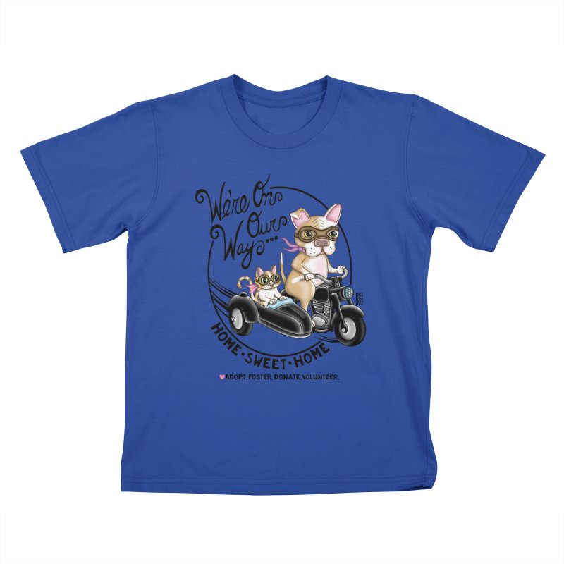 Home Sweet Home Kids T-Shirt by Pigdog