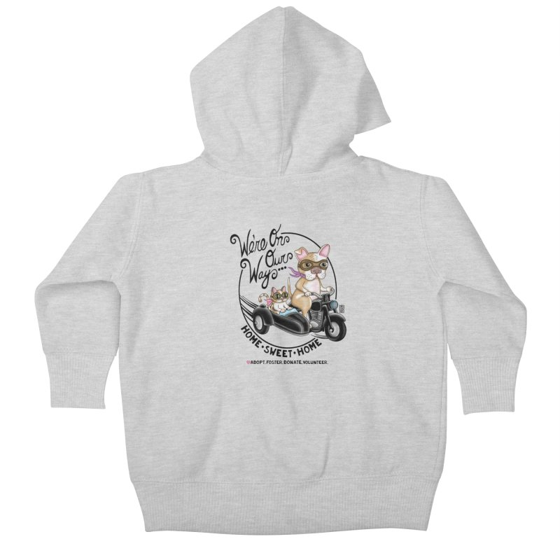 Home Sweet Home Kids Baby Zip-Up Hoody by Pigdog
