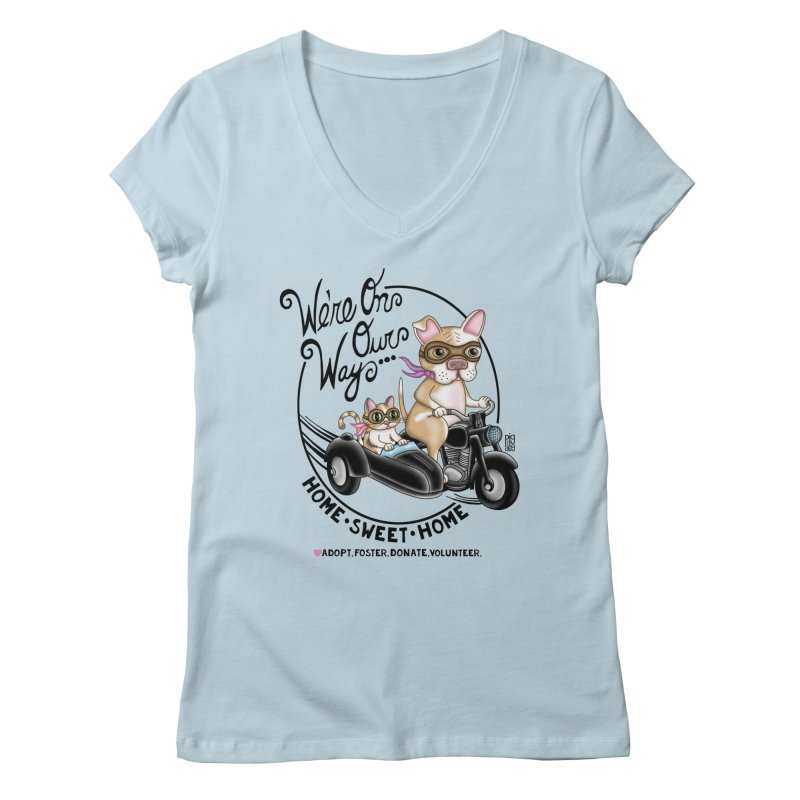 Home Sweet Home Women's V-Neck by Pigdog