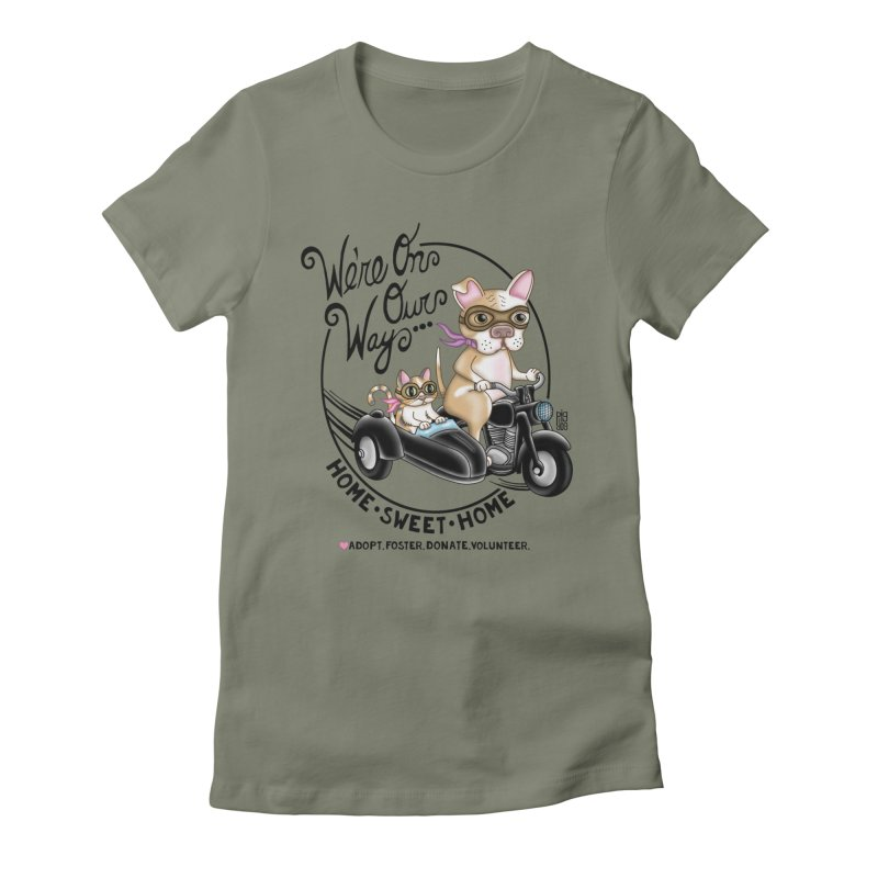 Home Sweet Home Women's Fitted T-Shirt by Pigdog