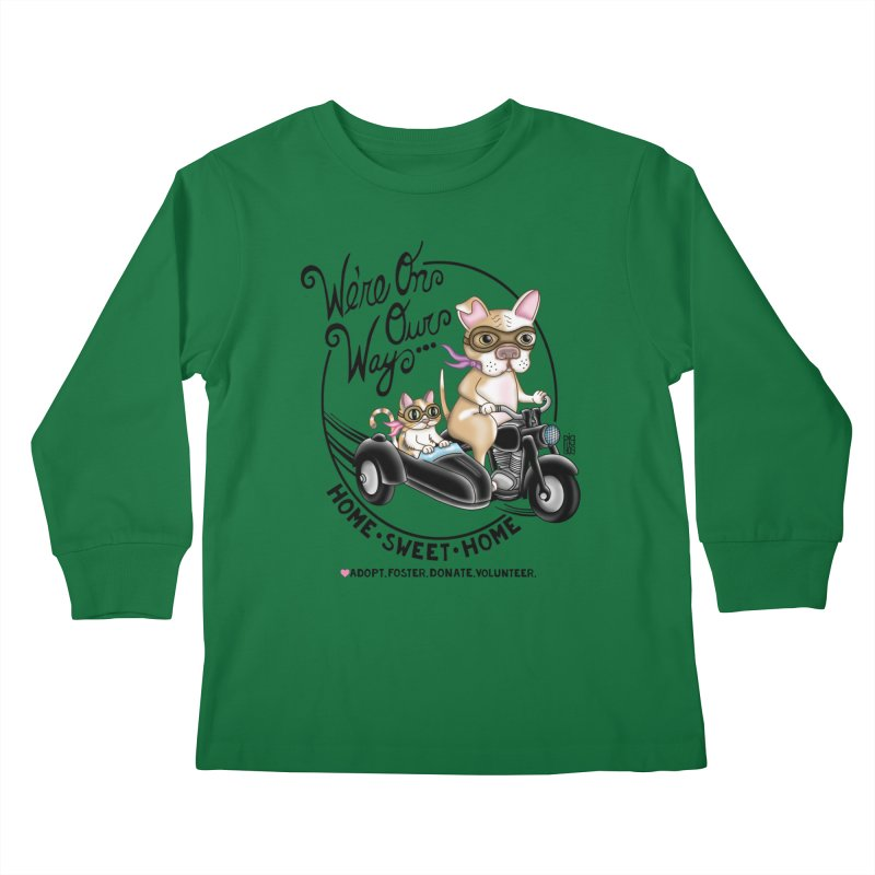 Home Sweet Home Kids Longsleeve T-Shirt by Pigdog