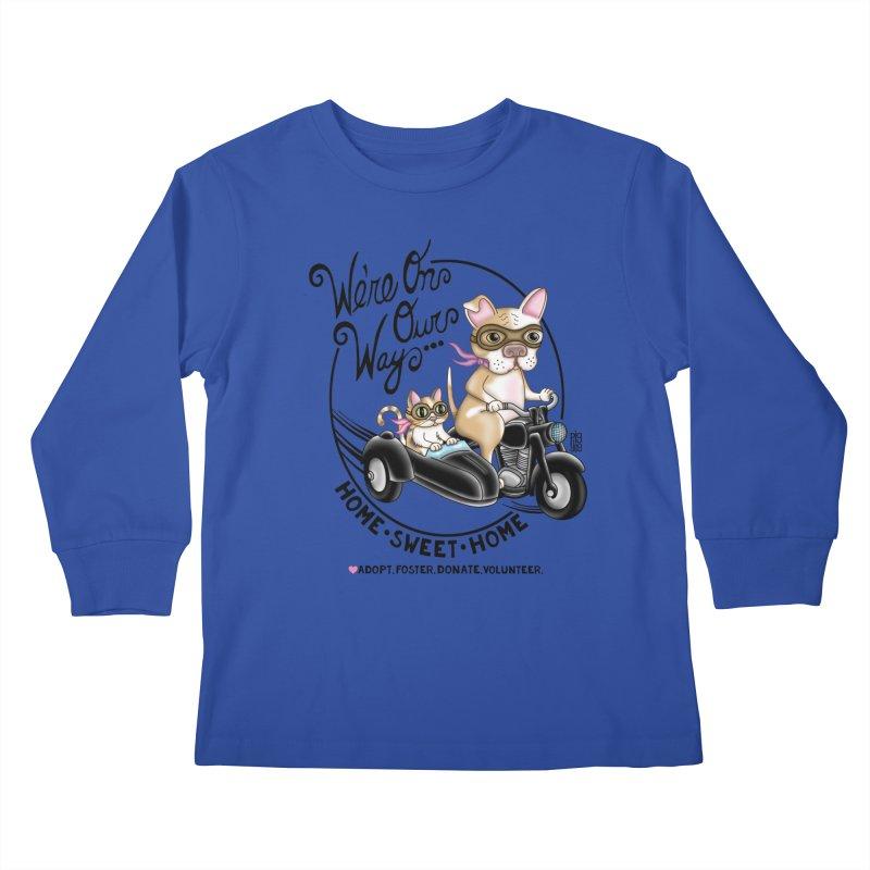 Home Sweet Home Kids Longsleeve T-Shirt by Pigdog