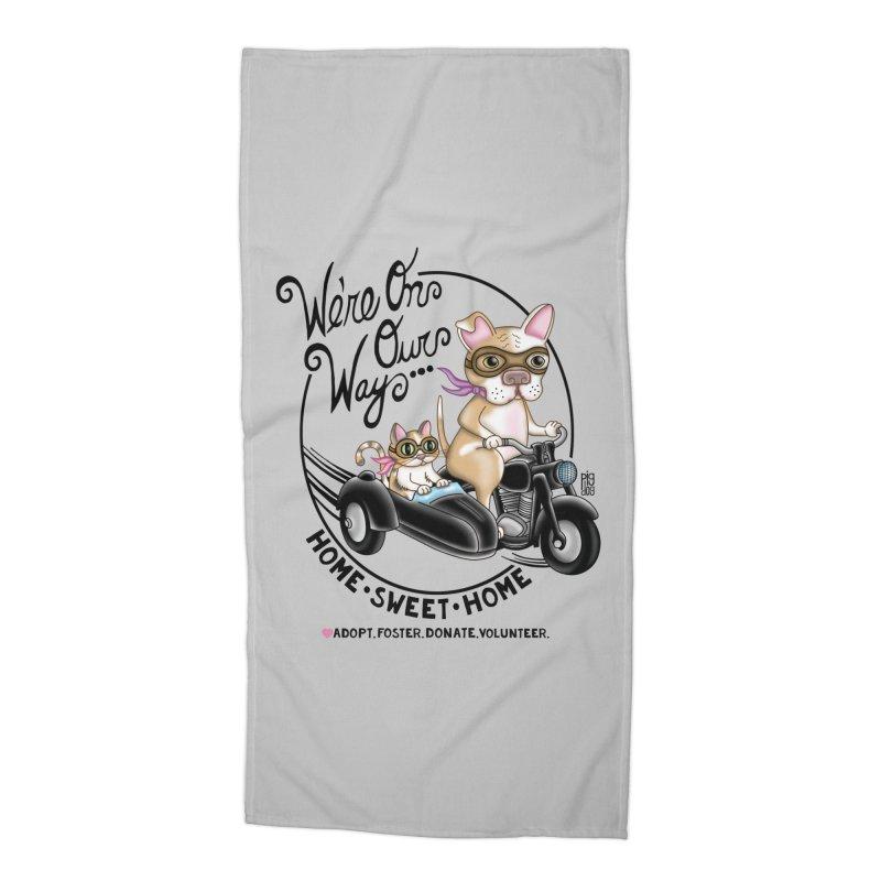 Home Sweet Home Accessories Beach Towel by Pigdog