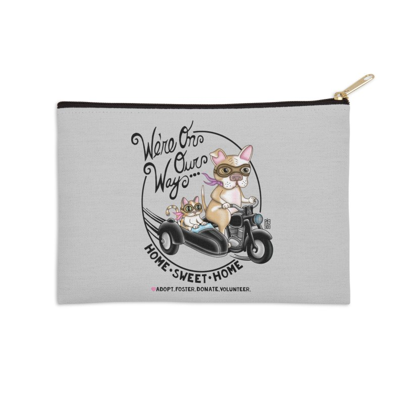 Home Sweet Home Accessories Zip Pouch by Pigdog