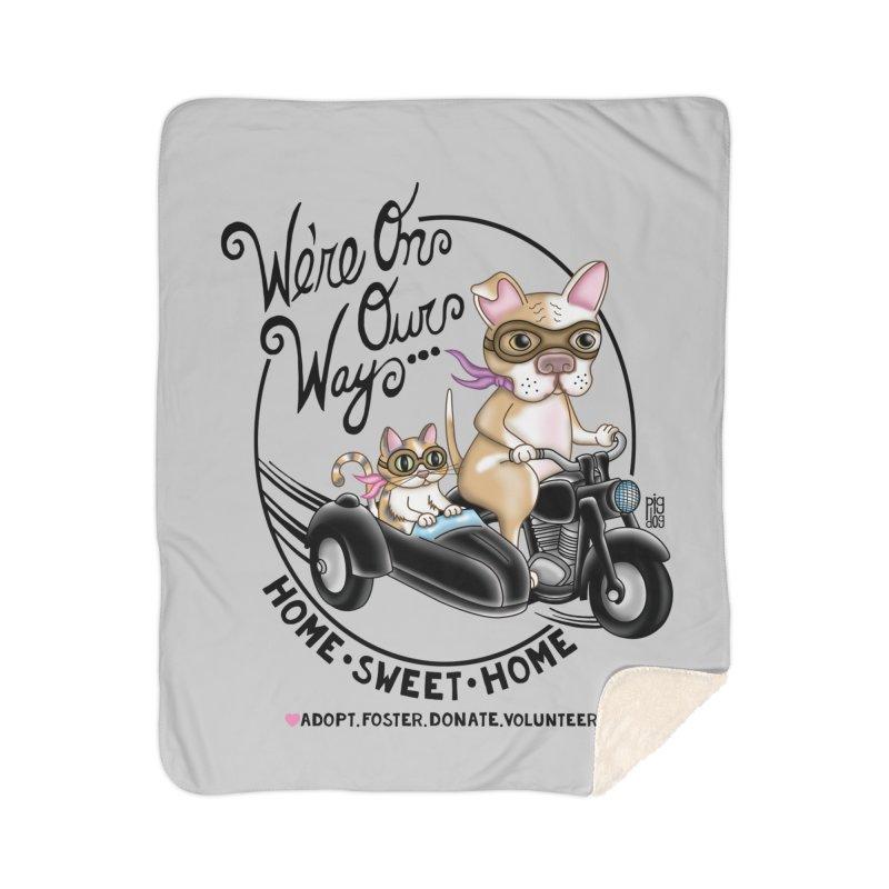 Home Sweet Home Home Sherpa Blanket Blanket by Pigdog