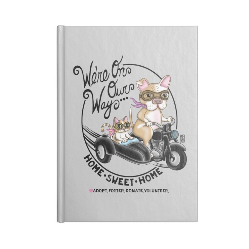 Home Sweet Home Accessories Blank Journal Notebook by Pigdog