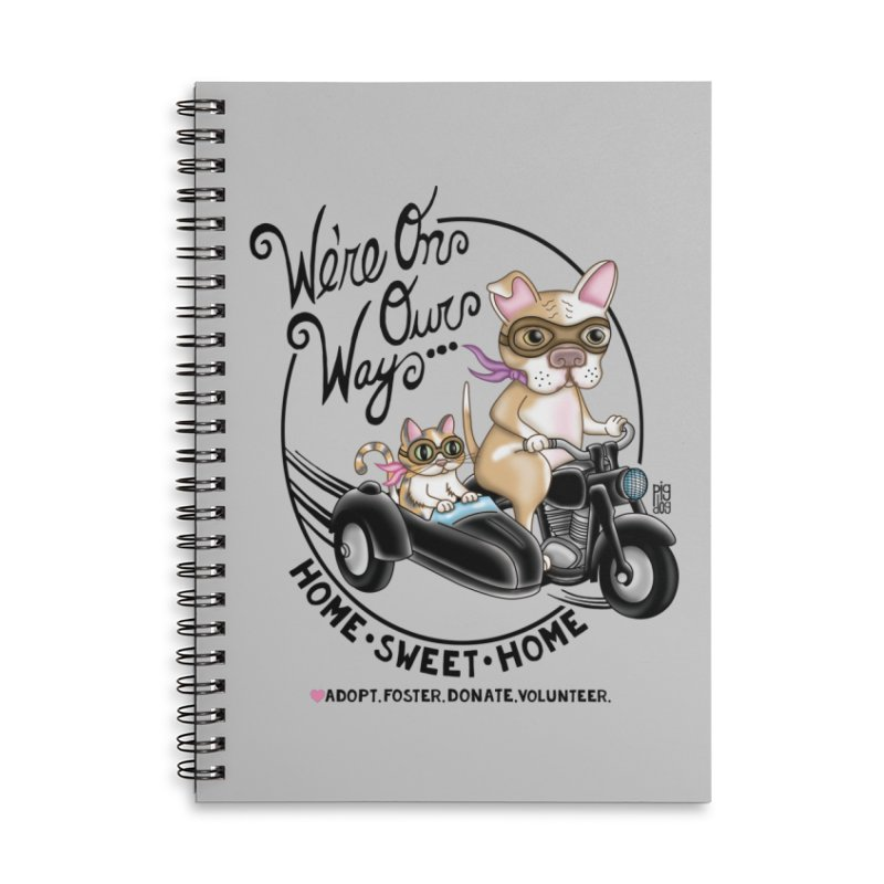 Home Sweet Home Accessories Lined Spiral Notebook by Pigdog