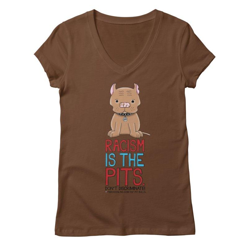 The Pits Women's Regular V-Neck by Pigdog