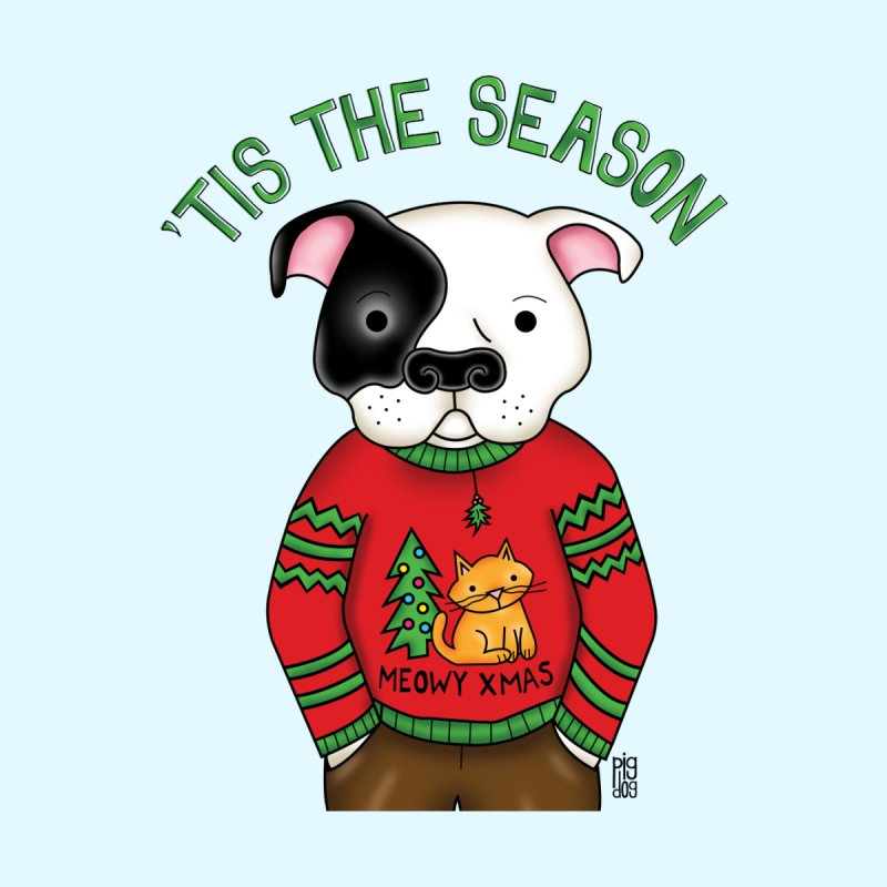 Ugly Xmas Sweater Home Tapestry by Pigdog