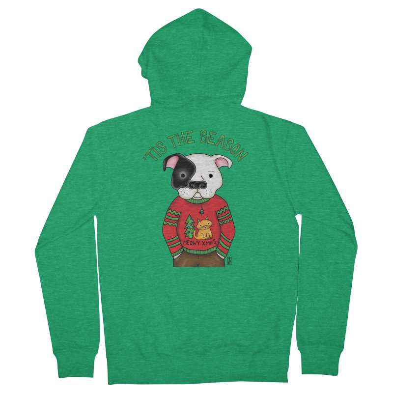 Ugly Xmas Sweater Women's French Terry Zip-Up Hoody by Pigdog