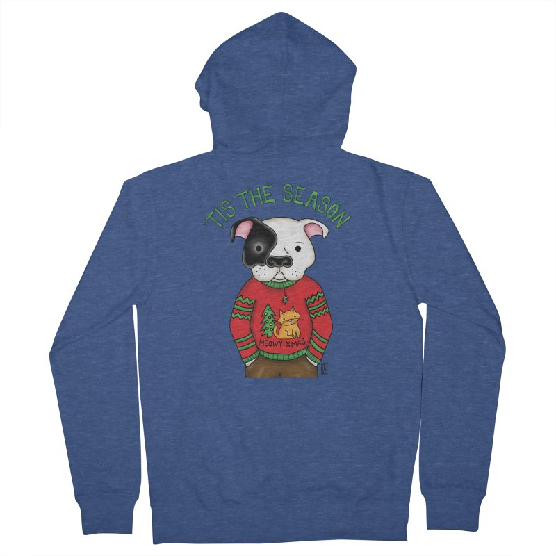 Ugly Xmas Sweater Men's French Terry Zip-Up Hoody by Pigdog