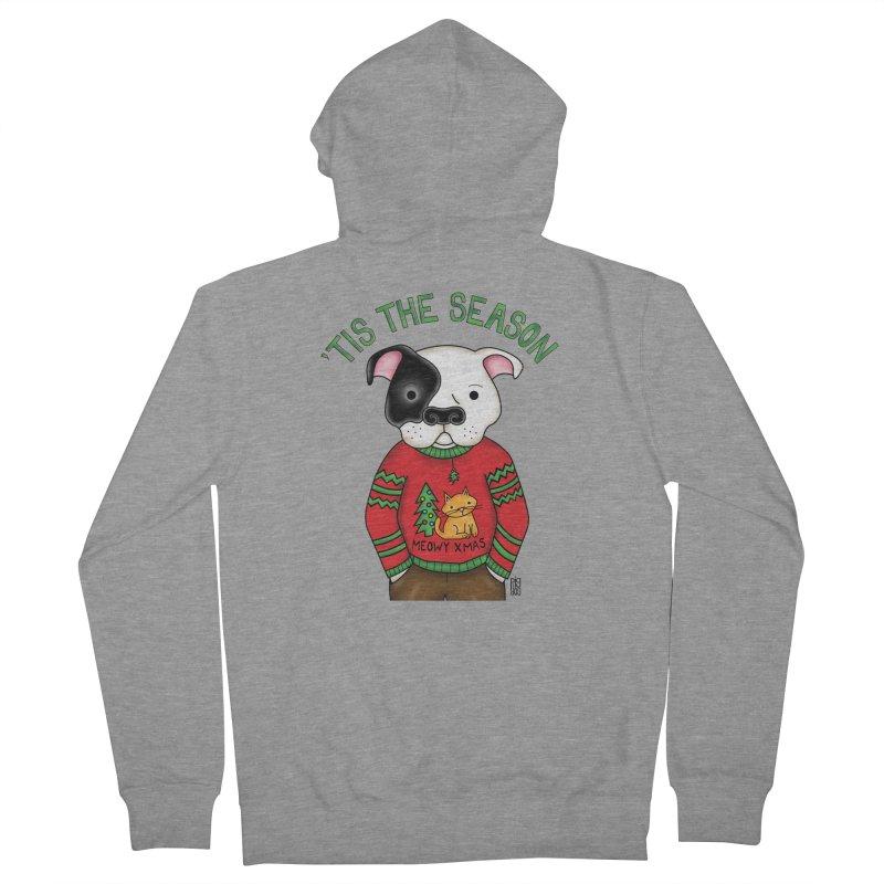 Ugly Xmas Sweater Men's Zip-Up Hoody by Pigdog