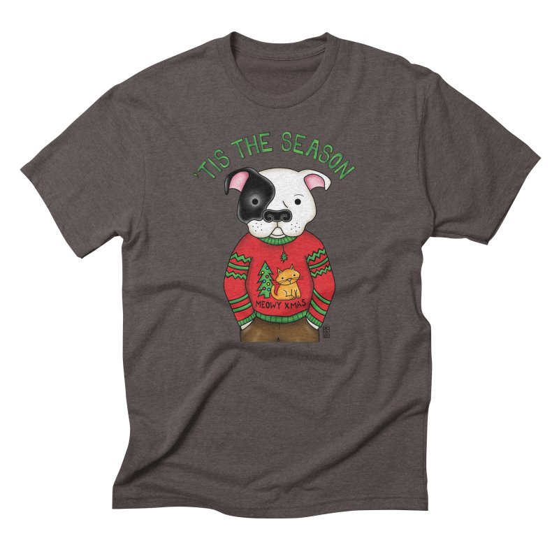 Ugly Xmas Sweater Men's Triblend T-Shirt by Pigdog