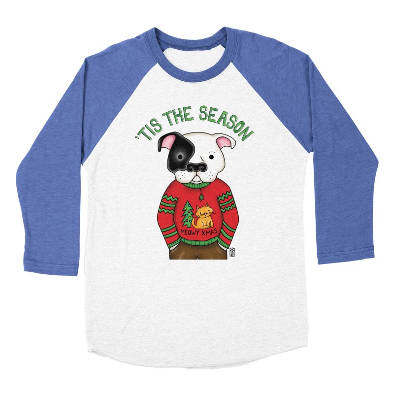 Ugly Xmas Sweater Women's Baseball Triblend Longsleeve T-Shirt by Pigdog