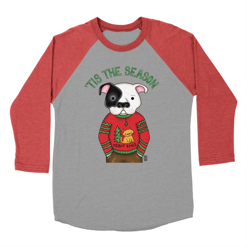 Ugly Xmas Sweater Women's Baseball Triblend Longsleeve T-Shirt by Pigdog