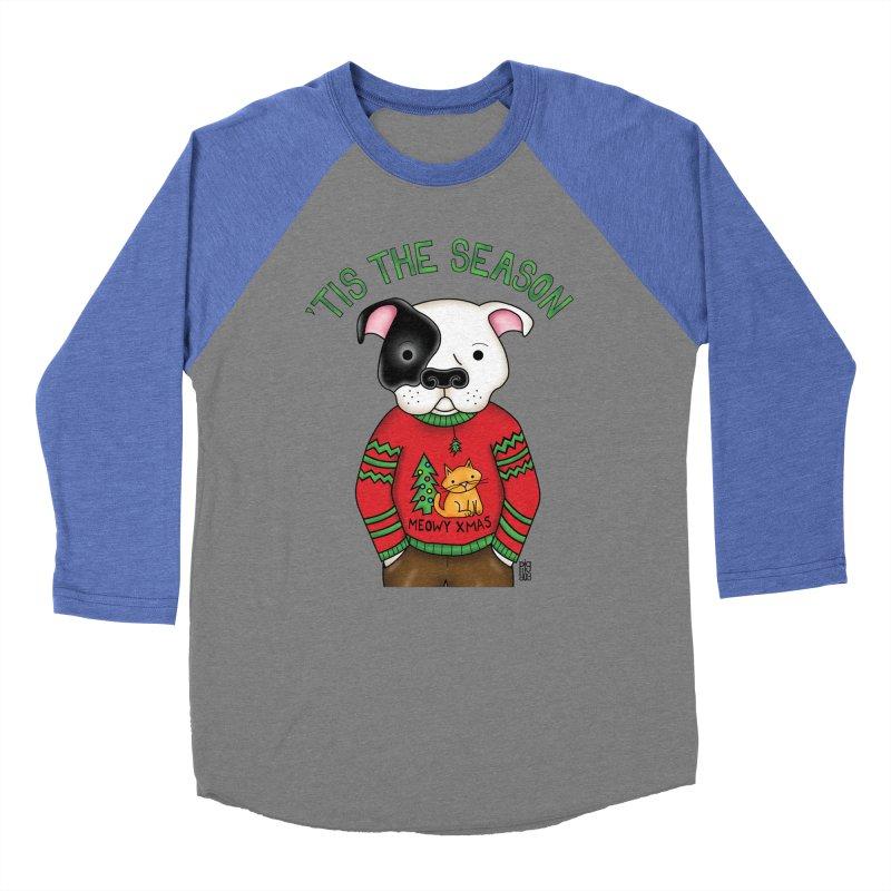 Ugly Xmas Sweater Men's Baseball Triblend Longsleeve T-Shirt by Pigdog