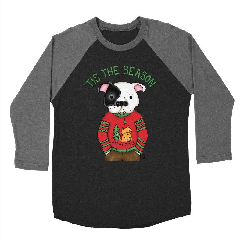 Ugly Xmas Sweater Men's Baseball Triblend T-Shirt by Pigdog