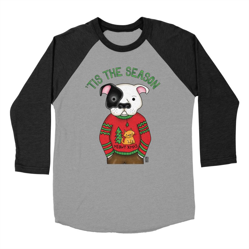 Ugly Xmas Sweater Men's Baseball Triblend Longsleeve T-Shirt by Pigdog