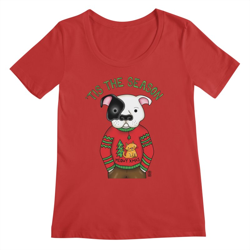 Ugly Xmas Sweater Women's Scoop Neck by Pigdog
