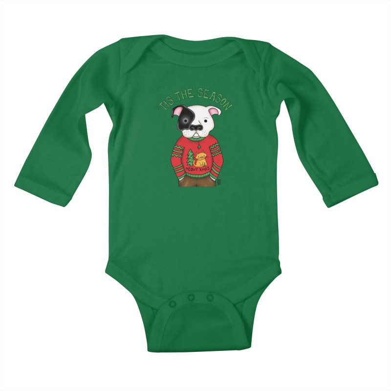 Ugly Xmas Sweater Kids Baby Longsleeve Bodysuit by Pigdog
