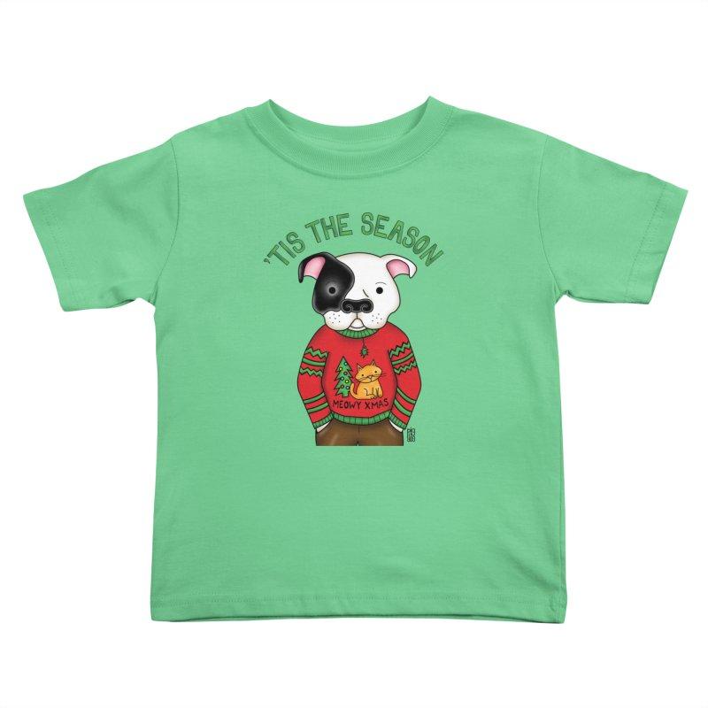 Ugly Xmas Sweater Kids Toddler T-Shirt by Pigdog