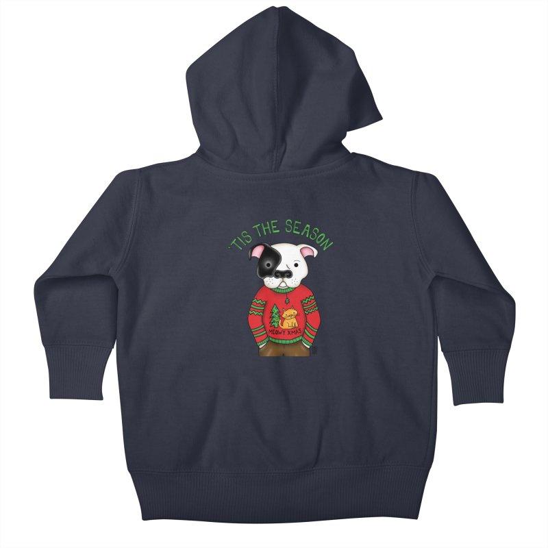 Ugly Xmas Sweater Kids Baby Zip-Up Hoody by Pigdog