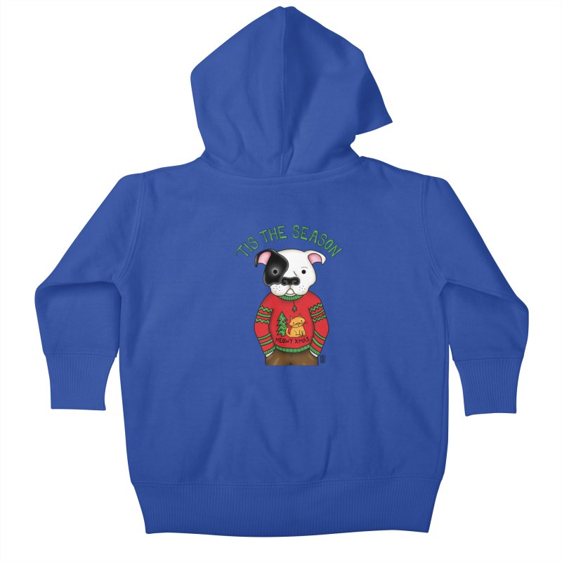 Ugly Xmas Sweater Kids Baby Zip-Up Hoody by Pigdog