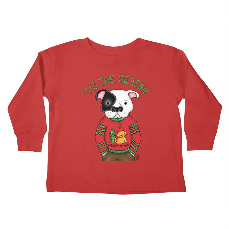 Ugly Xmas Sweater Kids Toddler Longsleeve T-Shirt by Pigdog