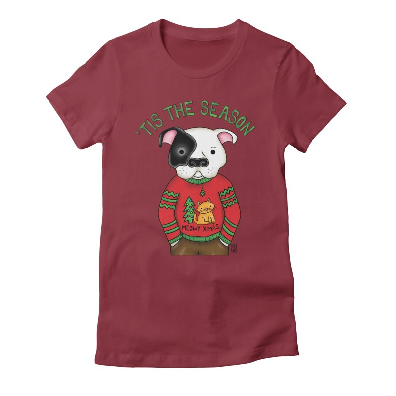 Ugly Xmas Sweater Women's Fitted T-Shirt by Pigdog