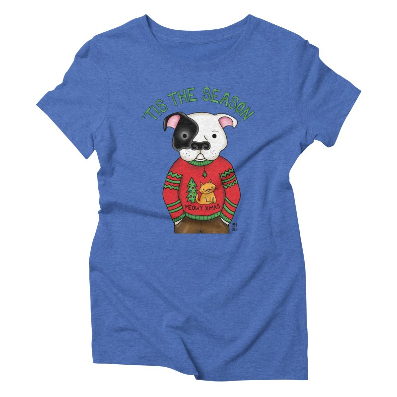 Ugly Xmas Sweater Women's Triblend T-Shirt by Pigdog