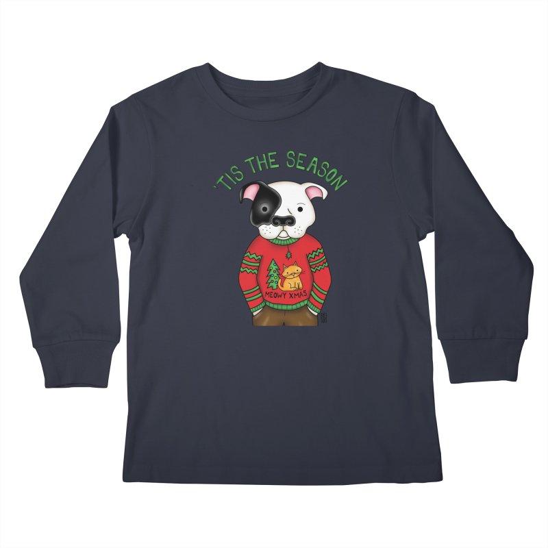 Ugly Xmas Sweater Kids Longsleeve T-Shirt by Pigdog