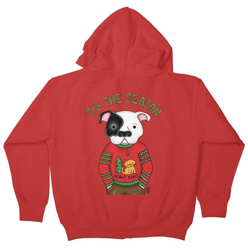 Ugly Xmas Sweater Kids Zip-Up Hoody by Pigdog