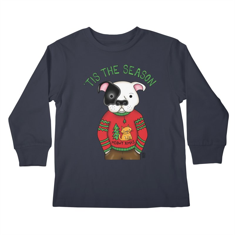 Ugly Xmas Sweater Kids Longsleeve T-Shirt by Pigdog