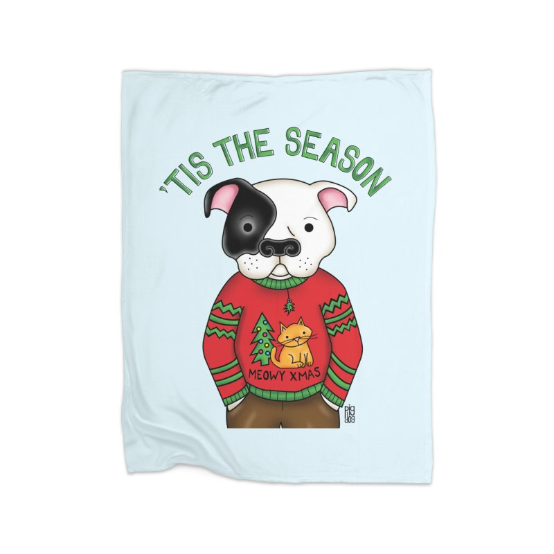 Ugly Xmas Sweater Home Fleece Blanket Blanket by Pigdog
