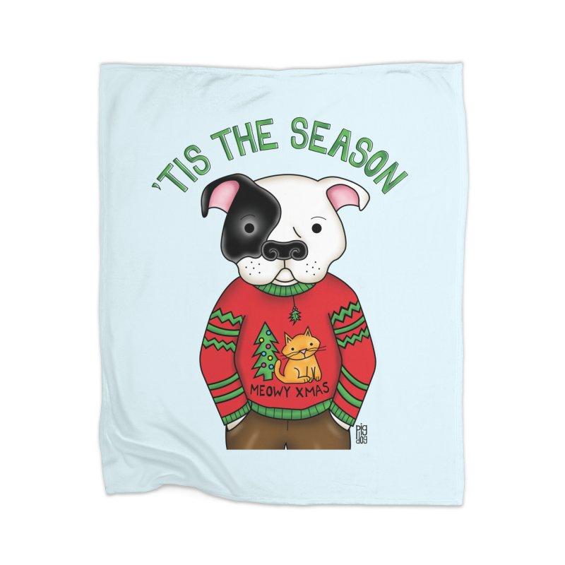Ugly Xmas Sweater Home Blanket by Pigdog