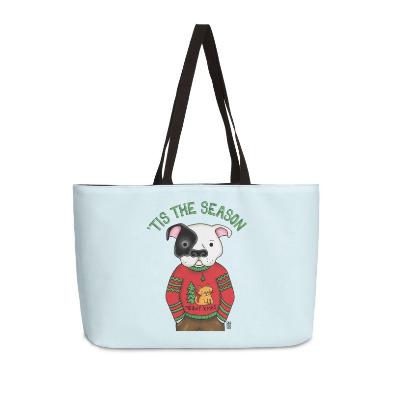 Ugly Xmas Sweater Accessories Weekender Bag Bag by Pigdog