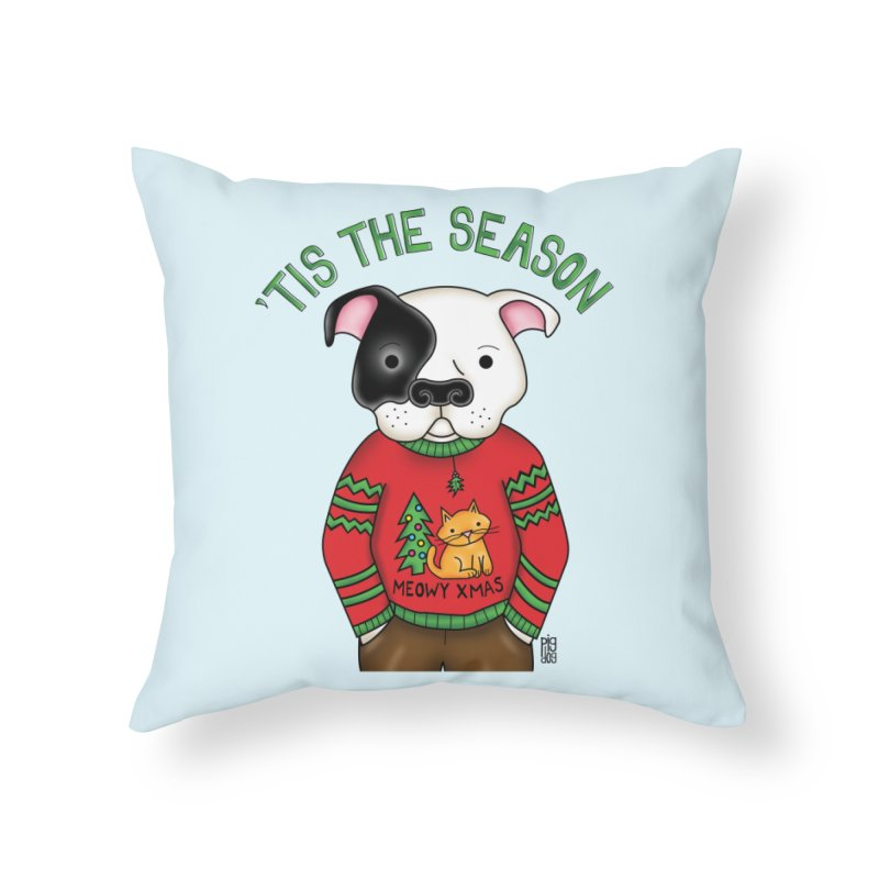 Ugly Xmas Sweater Home Throw Pillow by Pigdog