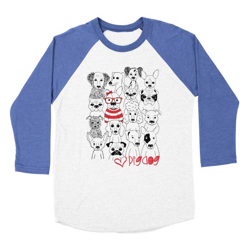 Where's Stella Women's Baseball Triblend Longsleeve T-Shirt by Pigdog