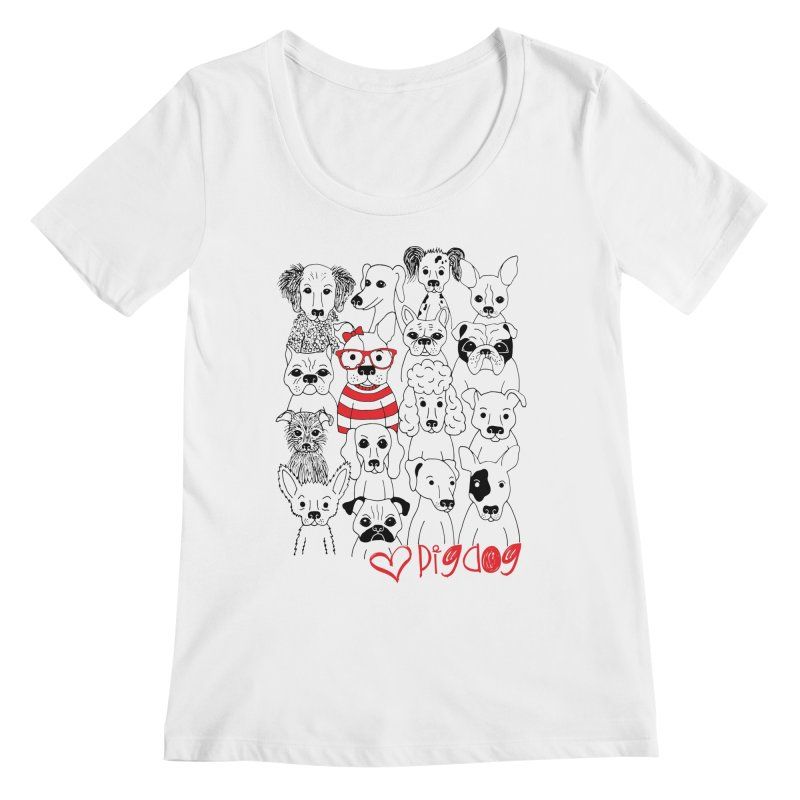 Where's Stella Women's Scoopneck by Pigdog