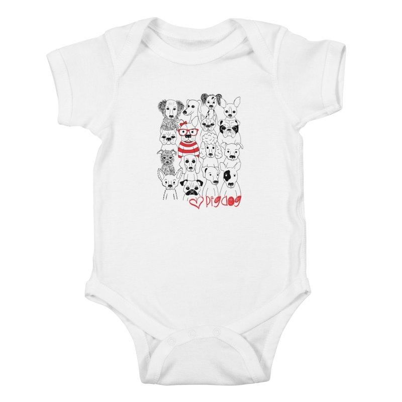 Where's Stella Kids Baby Bodysuit by Pigdog