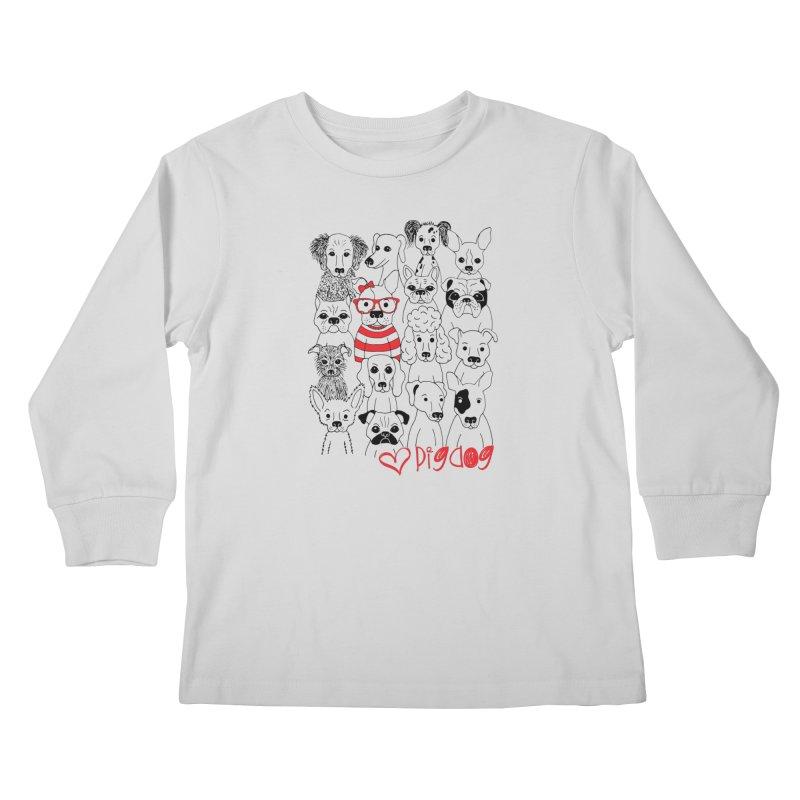 Where's Stella Kids Longsleeve T-Shirt by Pigdog