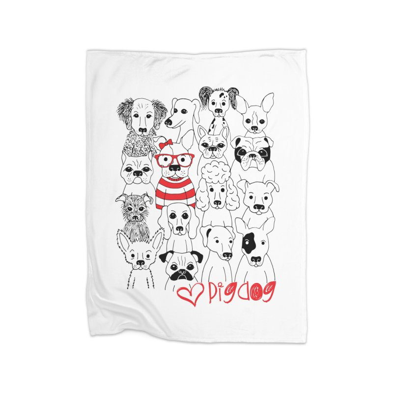 Where's Stella Home Fleece Blanket Blanket by Pigdog
