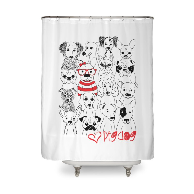 Where's Stella Home Shower Curtain by Pigdog