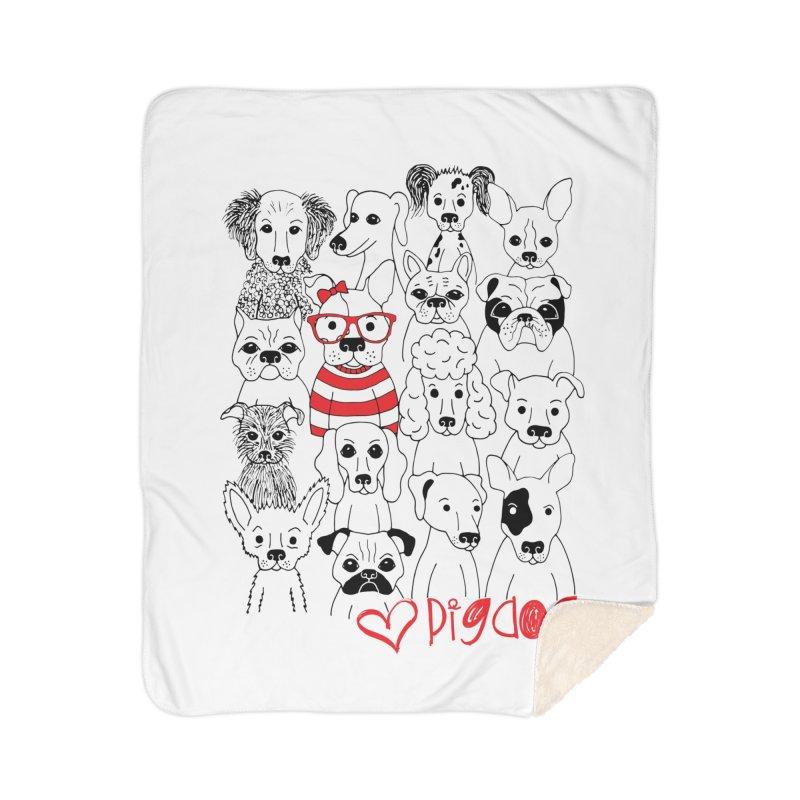 Where's Stella Home Sherpa Blanket Blanket by Pigdog