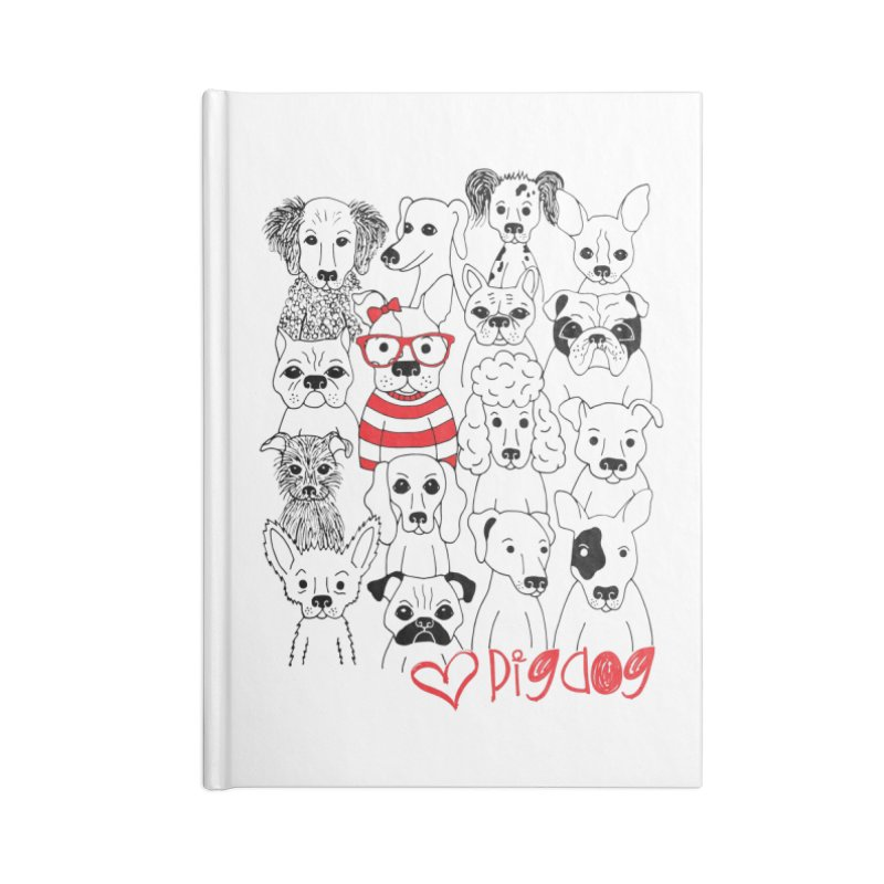 Where's Stella Accessories Lined Journal Notebook by Pigdog