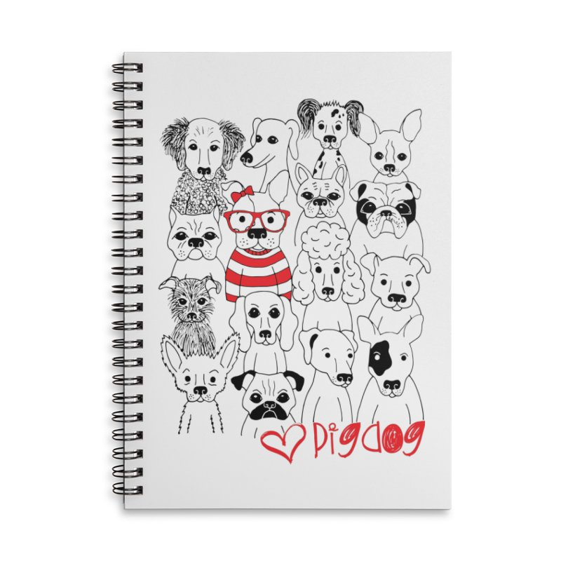 Where's Stella Accessories Lined Spiral Notebook by Pigdog