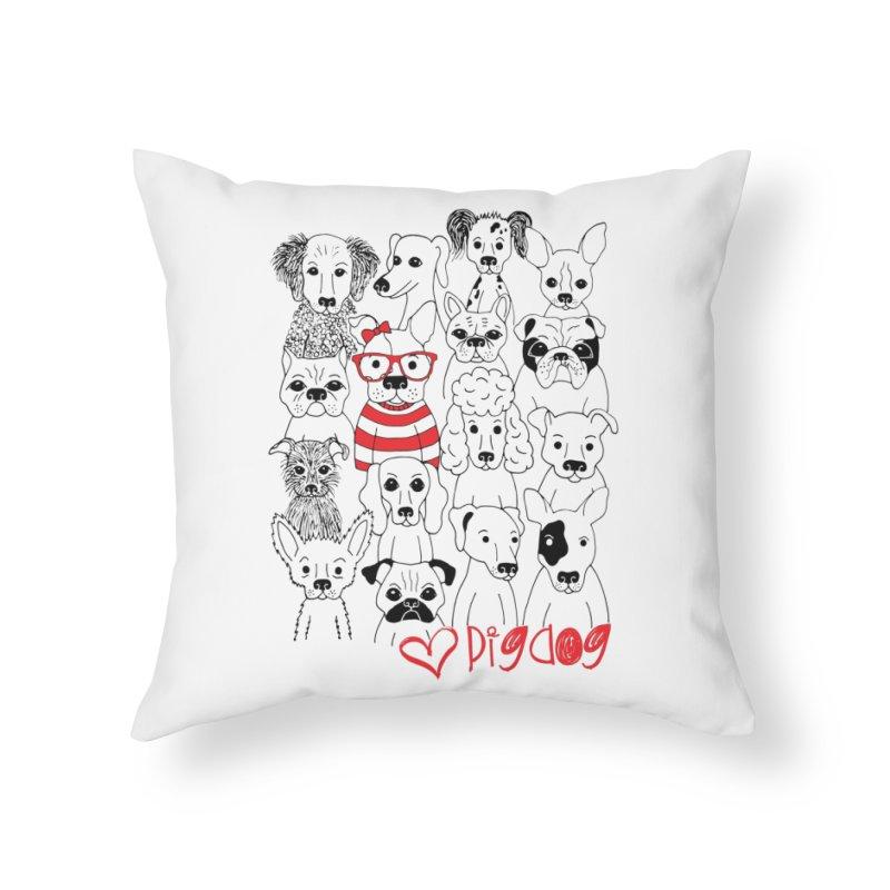 Where's Stella Home Throw Pillow by Pigdog