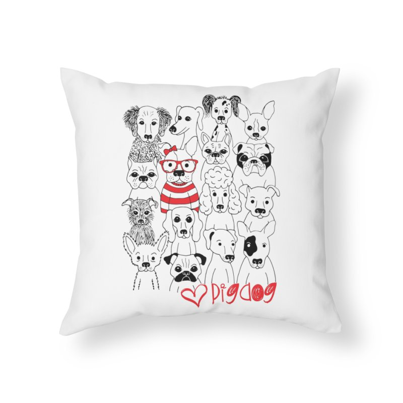 Where's Stella Home Throw Pillow by Pigdog