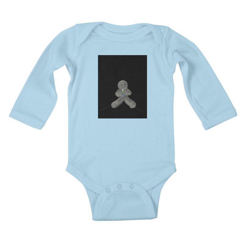 Human Voodoo Kids Baby Longsleeve Bodysuit by Pigment Studios Merch