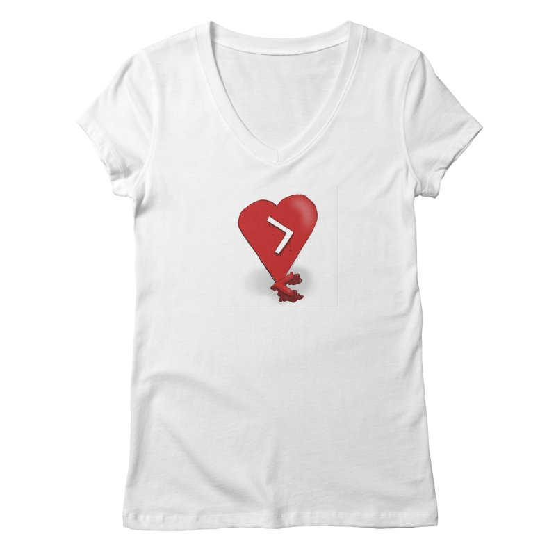Less than... Women's Regular V-Neck by Pigment Studios Merch